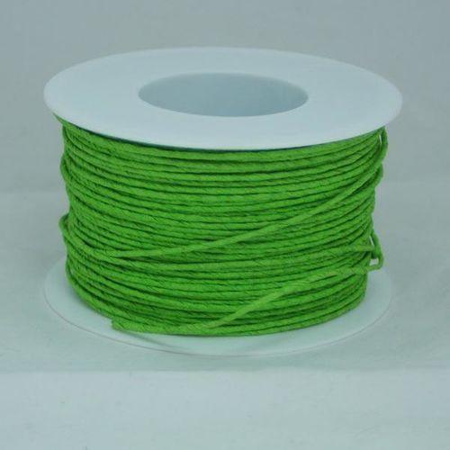 Creativehobby Ozdobny sznurek papierowy z drutem - zielony jasny - zieljas