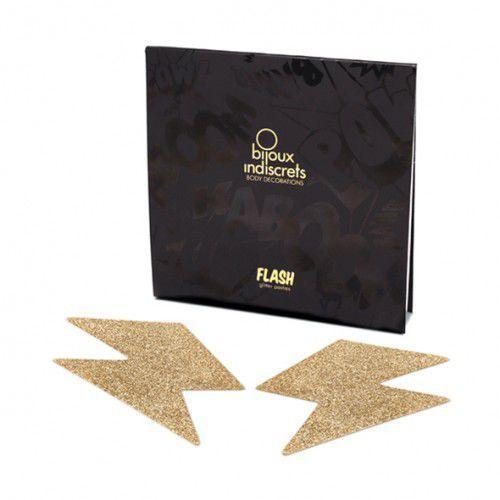 Bijoux indiscrets Naklejki na sutki -  flash bolt gold złota błyskawica, kategoria: nakładki na sutki