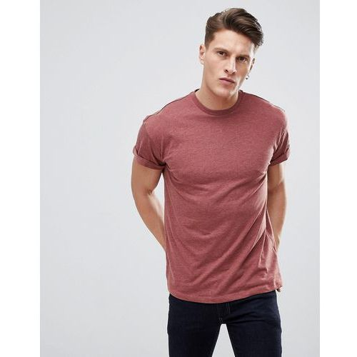 New Look T-Shirt With Roll Sleeve In Red - Brown, w 3 rozmiarach
