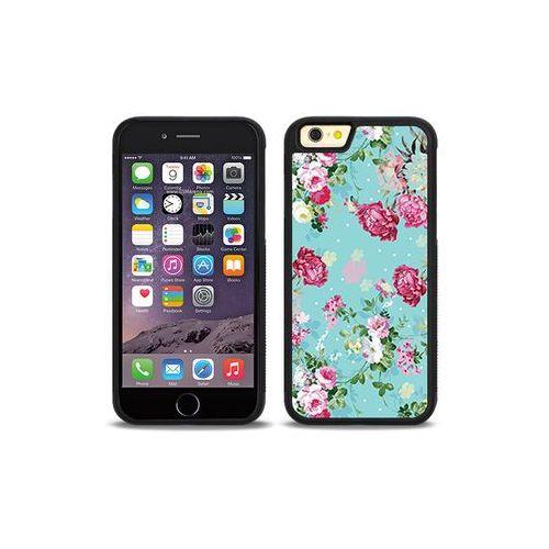 Apple iphone 6s - etui na telefon aluminum fantastic - różyczki na miętowym tle marki Etuo aluminum fantastic