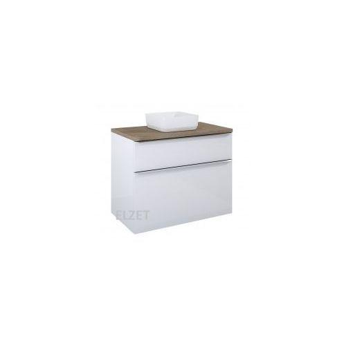 ELITA szafka Lofty 90 white pod umywalkę nablatową + blat 90 dąb classic 167027+167041, 167027.167041