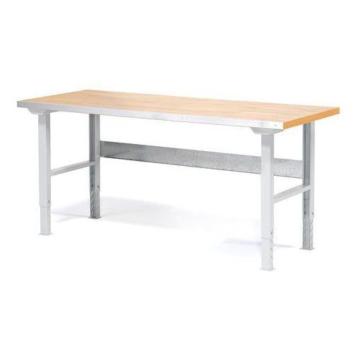 Stół roboczy SOLID, 750 kg, 1500x800 mm, dąb, 23570