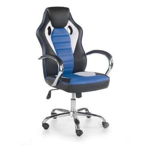 Halmar Fotel dla gracza gamingowy scroll niebieski