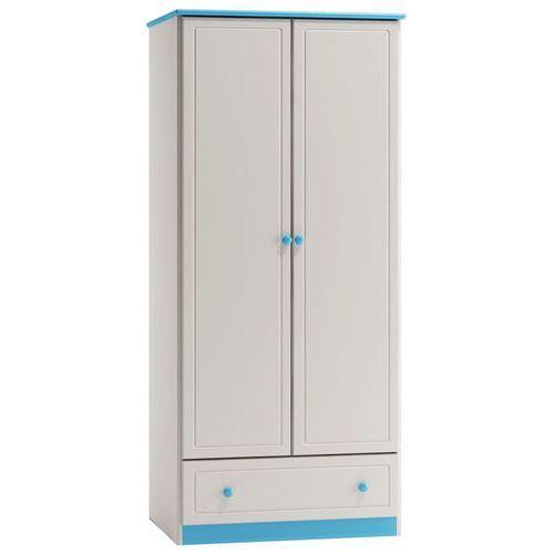Szafa z szufladą pinokio 80x182x60 c1 niebieska marki Meblo-drew