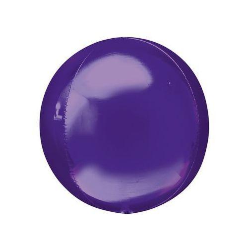 Balon foliowy kula fioletowy - 38 x 40 cm - 1 szt.