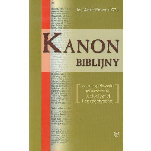 Kanon biblijny. w perspektywie historycznej, teologicznej i egzegetycznej, oprawa miękka