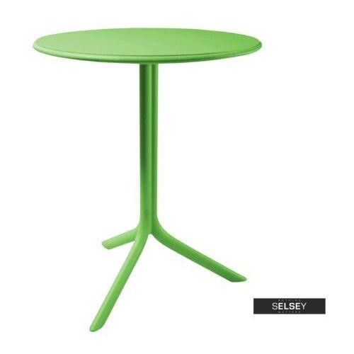 SELSEY Stół Chapena zielony średnica 61 cm, kolor zielony