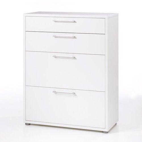 Prima regał niski z szufladami biały