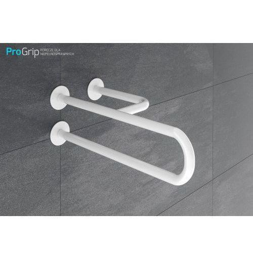 """Poręcz ścienna """"TRÓJNÓG"""" biała emaliowana Ø 25 mm, długość 500 mm, prawa, PSE/25/505P"""