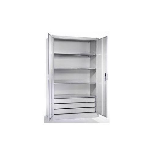 Cp Szafa o dużej pojemności,4 półki, 3 szuflady
