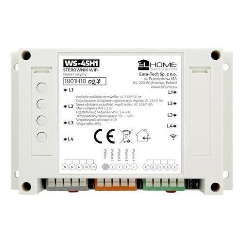 Eura-tech El home ws-45h1 - 4-kanałowy sterownik ac 230v /16a na szynę din - wifi