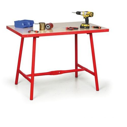 Składany stół warsztatowy, 1200 x 700 x 845 mm marki B2b partner