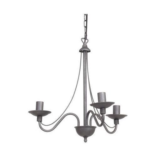 Lampa wisząca świecznikowa zwis Aldex Róża 3x40W E14 szara 397E/19 (5904798638030)