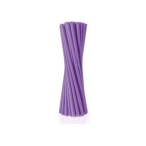 Słomki - rurki fioletowe proste - 24 cm - 500 szt. - Fioletowy