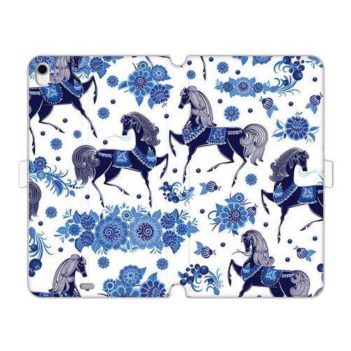 Apple iPad Pro 11 - etui na tablet Wallet Book Fantastic - folkowe niebieskie konie, ETAP818WBFCFB130000