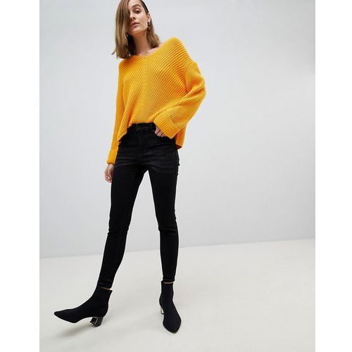 Stradivarius High Waist Skinny Jeans - Black, kolor czarny