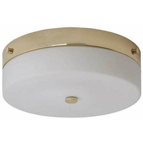 LAMPA sufitowa TAMAR/F/L PG Elstead łazienkowa OPRAWA plafon okrągły szklany IP44 polerowane złoto biały
