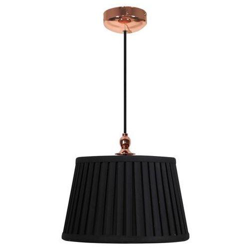 Candellux Abażurowa lampa wisząca amore 31-39378  plisowana oprawa zwis czarny