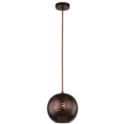 LAMPA wisząca SFINKS 31-43283 Candellux orientalna OPRAWA metalowa marokański ZWIS ażurowy kula brązowa - produkt z kategorii- Lampy sufitowe