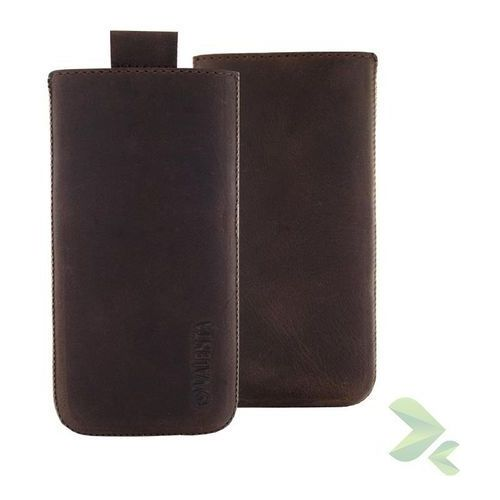 Rovens.pl Valenta Pocket Classic Vintage - Skórzane etui wsuwka Samsung Galaxy S5, Sony Xperia Z i inne (brązowy), 910984