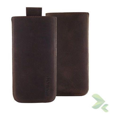 Rovens.pl Valenta Pocket Classic Vintage - Skórzane etui wsuwka Samsung Galaxy S5, Sony Xperia Z i inne (brązowy) z kategorii Futerały i pokrowce do telefonów