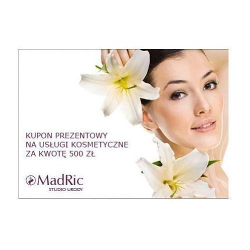 kupon prezentowy na usługi kosmetyczne za kwotę 500 zł. od producenta Madric