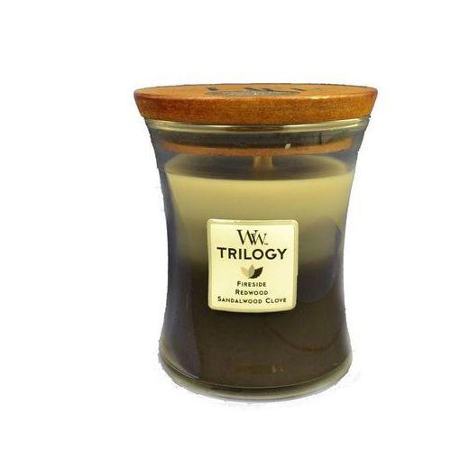 Woodwick świeca zapachowa trilogy warm woods 275,0 g średnia