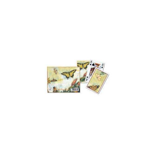 Karty do gry Piatnik 2 talie, Tulipany i motyle