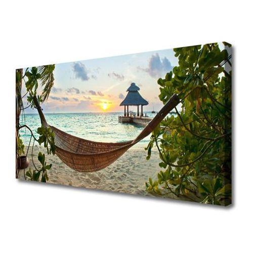 Obraz na Płótnie Plaża Hamak Morze Krajobraz