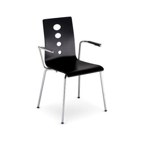 Nowy styl Krzesło lantana arm alu/black