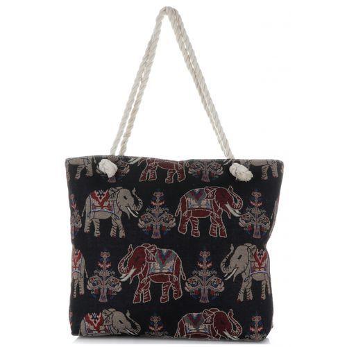 Or&mi Uniwersalne torebki damskie na plażę elephant multikolor - czarna (kolory)