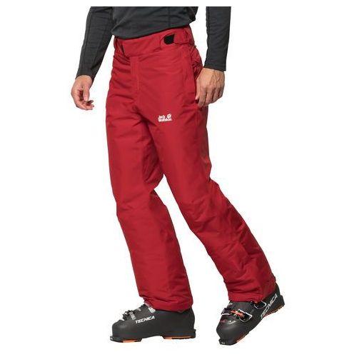 Jack wolfskin Męskie spodnie narciarskie powder mountain pants m red lacquer - 46