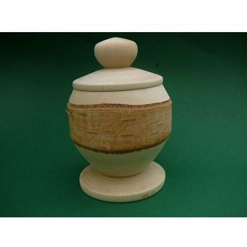 Rękodzielnik Cukiernica/pojemnik z korą - naczynie drewniane