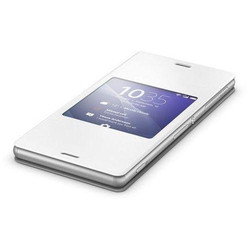 Oryginalne etui z klapką Sony SCR24 Style Cover with Stand - białe - Sony Xperia Z3, 1287-5640