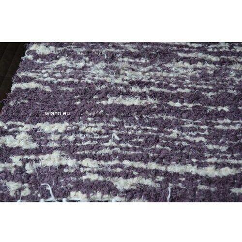 Spółdzielnia twórców ludowych Chodnik bawełniany ręcznie tkany 65x150 cm wrzosowo-ecru (k-31)