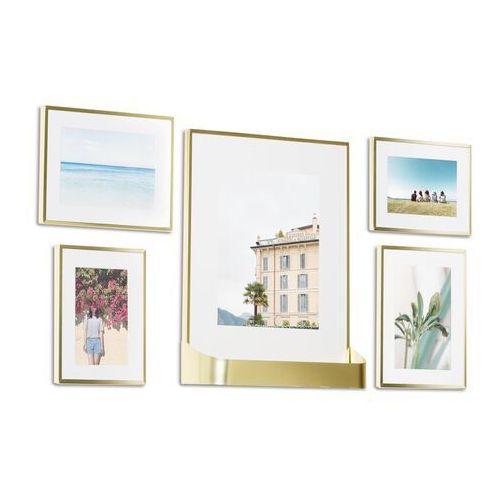 Ramki na zdjęcia Umbra Matinee Gallery Frames Matte-Brass