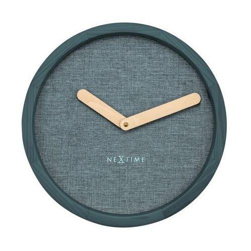 NeXtime - Zegar ścienny Calm - turkusowy, kolor niebieski