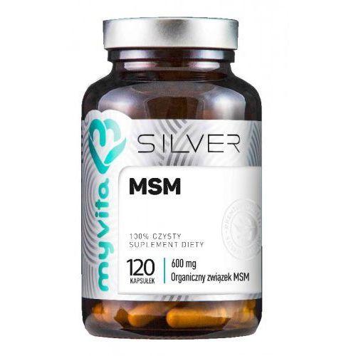 MSM organiczny związek siarki 600mg 120 kapsułek - Myvita Silver (5903021590343)