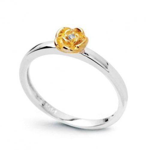 Złoty pierścionek PBD3748 - Diament, kolor żółty