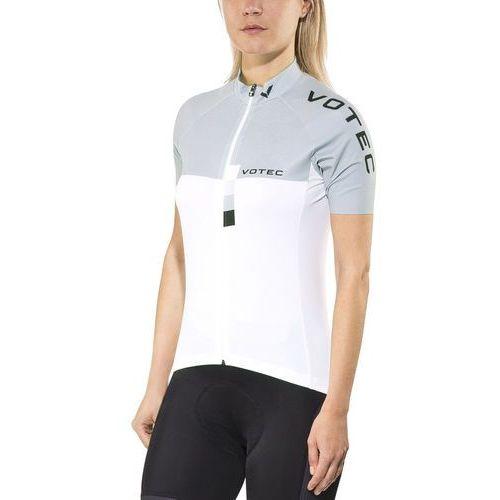 Votec evo race koszulka kolarska, krótki rękaw kobiety szary/biały xxl 2017 koszulki kolarskie (5414980344354)
