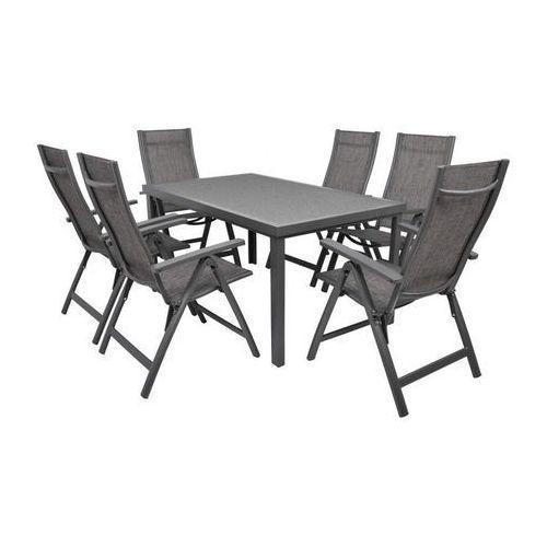 Hecht czechy Hecht stone set meble ogrodowe zestaw mebli ogrodowych stół + 6 krzeseł aluminium szkło - ewimax oficjalny dystrybutor - autoryzowany dealer hecht