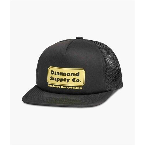 czapka z daszkiem DIAMOND - Hardware Trucker Hat W/ Rope Black (BLK)