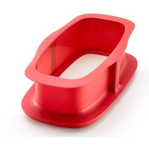 Keksówka z ceramiczną podstawą duo 24 cm czerwona marki Lekue