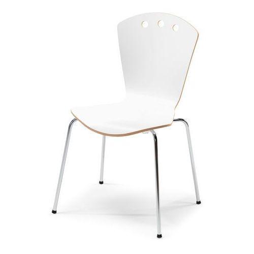 Krzesło do stołówki ORLANDO, biały, chrom, kolor biały