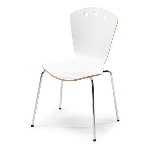 Krzesło Orlando, biały, chrom, kolor biały