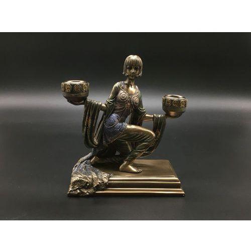 Świecznik z klęczącą lady (wu74959a4) marki Veronese