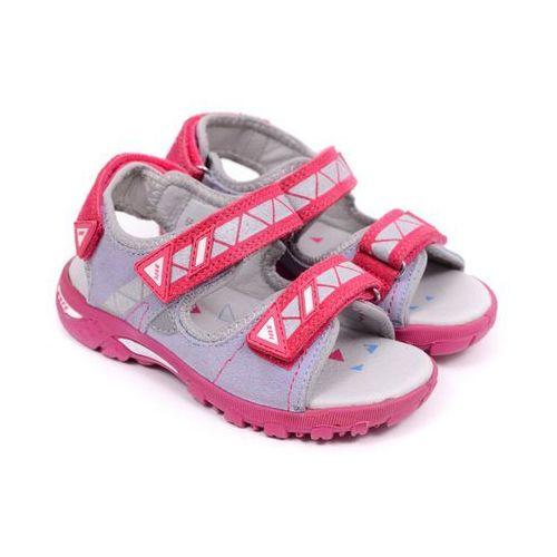 Sandały dziecięce Bartek 66133-61X szaro różowy 30 szary, 66133-61X szaro różowy 30
