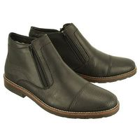 RIEKER 35381-00 black, botki męskie, kolor czarny