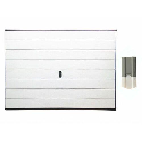 Zestaw brama garażowa segmentowa gładka balido biała + napęd eco line marki Vente-unique