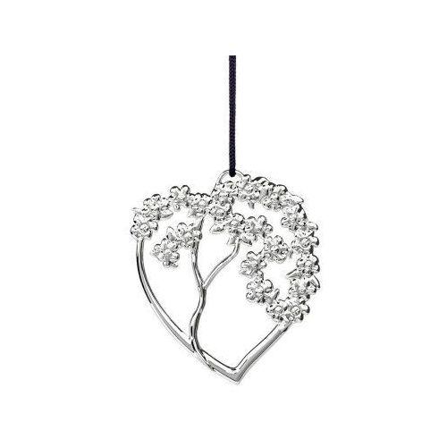 Ozdoba świąteczna serce drzewo Karen Blixen, srebrne - Rosendahl (5709513316138)